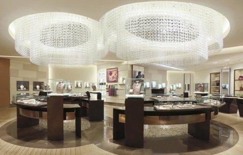 No 8 chandalier in Shanghai Bulgari store