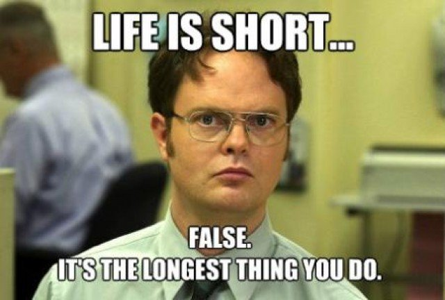 Funny meme about translating life