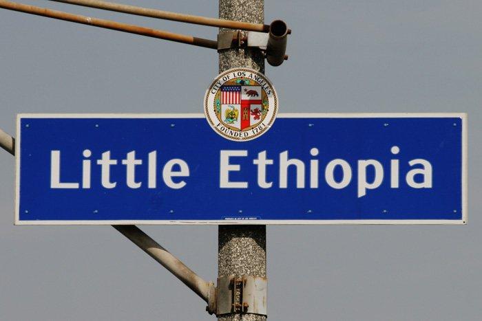 Little Ethiopia sign in LA