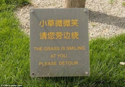 smilinggrass chinese sign