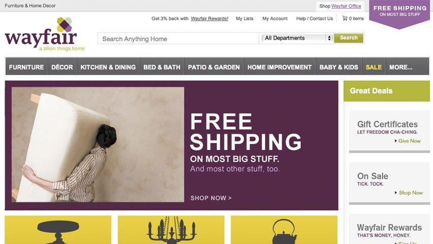 Wayfair online retail store